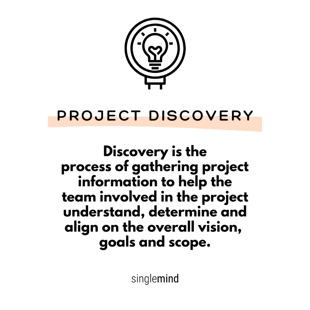Project Discovery Definition, SingleMind Consulting