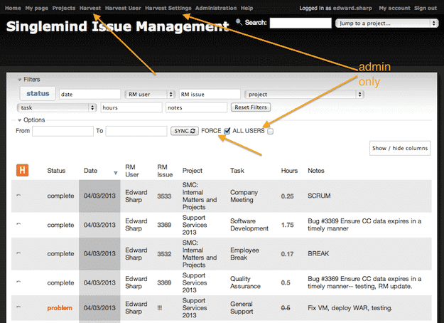 Harvest time keeping web application backend - Part 3