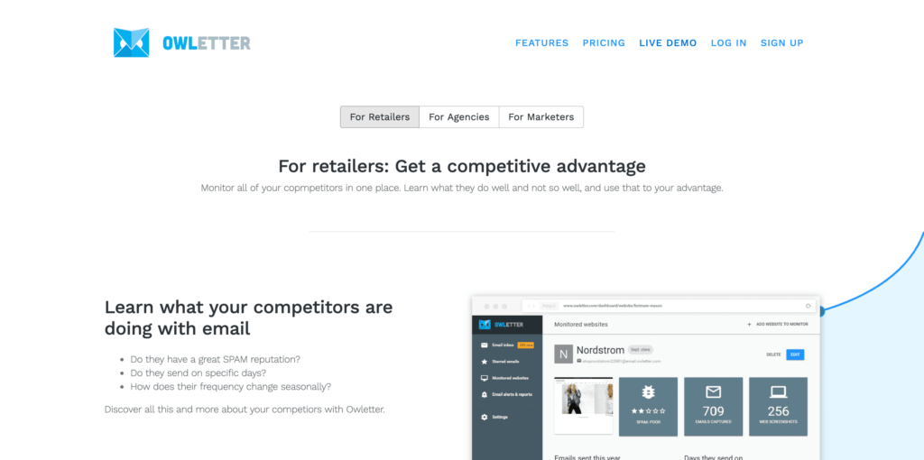 Owletter Competitor Research Tools