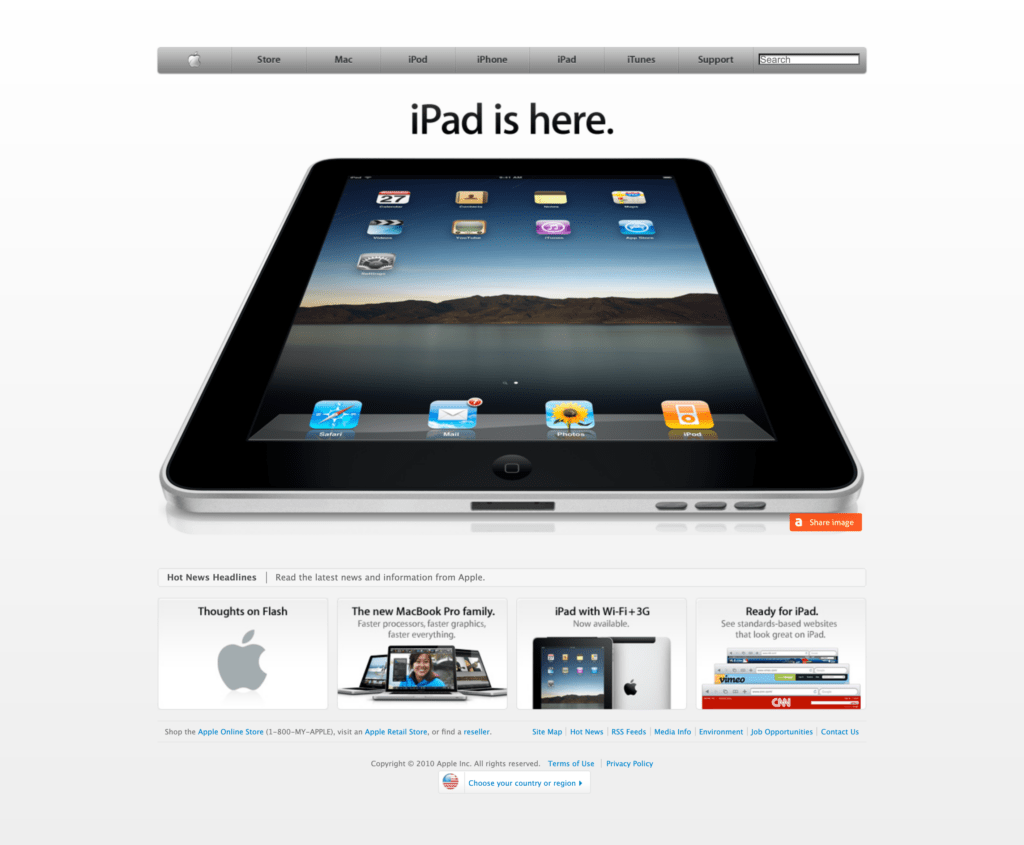 Apple.com 2010