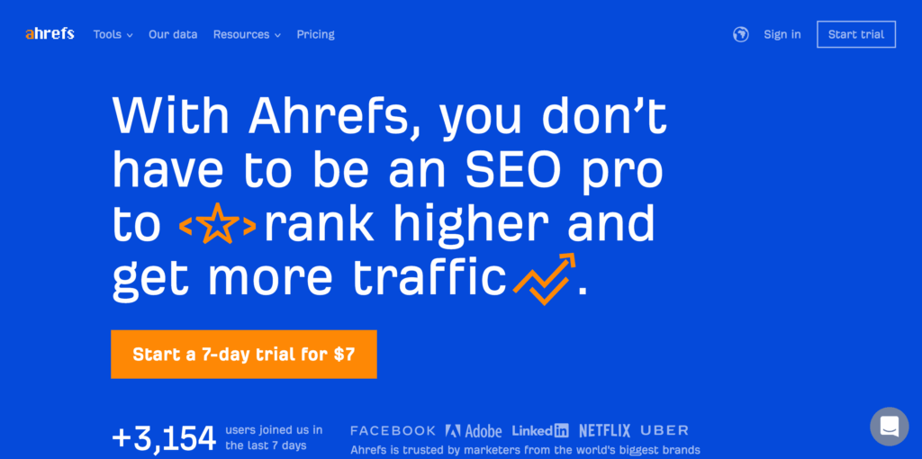 Ahrefs.com Competitor Research Tool