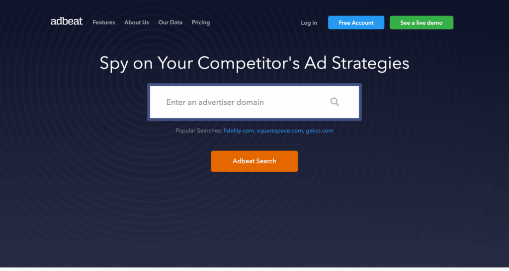 Adbeat Competitor Research Tools